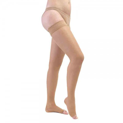 Meia 7/8 Medi 20-30 mmHg sem Ponteira Sheer Soft Natural