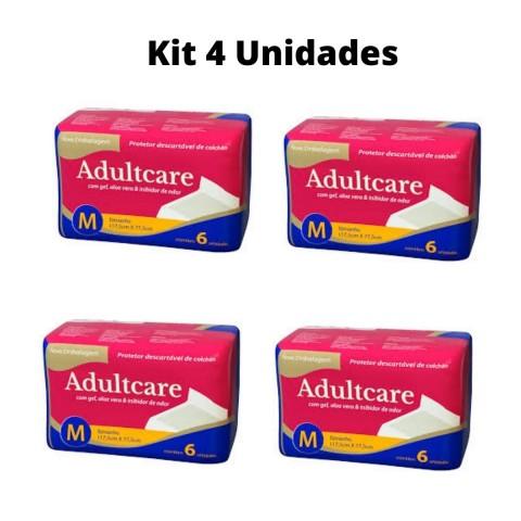 Protetor de Colchão Descartável Adultcare - KIT 4 unidades