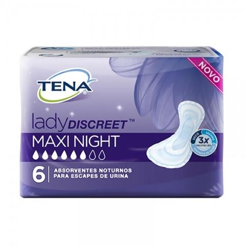 Absorvente Tena Lady Discreet Maxi Night c/6