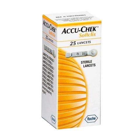 Lancetas Accu-chek Softclix com 25 - Roche